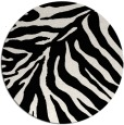 rug #434393 | round white stripes rug
