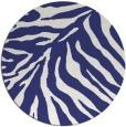 rug #434401 | round white animal rug