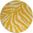 rug #434409   round yellow animal rug