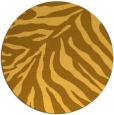 rug #434425 | round light-orange animal rug