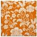 rug #438537 | square orange natural rug