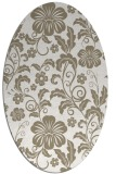rug #438697 | oval white rug