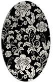 rug #438701 | oval black natural rug