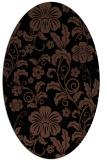 rug #438713   oval black natural rug