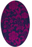 rug #438725 | oval pink natural rug
