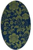 rug #438733   oval blue popular rug