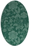 rug #438753 | oval blue-green rug