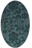 rug #438769 | oval blue-green natural rug