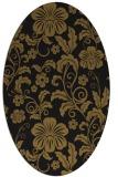 rug #438813   oval mid-brown natural rug