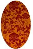 rug #438885 | oval red-orange rug