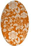 rug #438889   oval orange natural rug