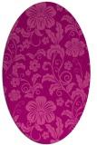 rug #438905 | oval pink natural rug