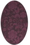 rug #438921 | oval purple rug