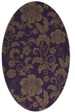 rug #438929 | oval purple rug