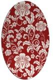 rug #438945 | oval red natural rug