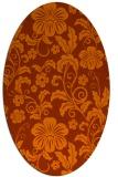 rug #438953 | oval red-orange popular rug