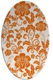 rug #438965 | oval red-orange natural rug