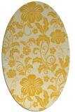 rug #438985 | oval yellow natural rug