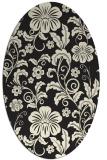 rug #439005 | oval black natural rug