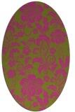 rug #439025 | oval pink natural rug