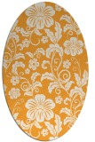 rug #439045 | oval light-orange natural rug