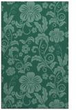 rug #439105 |  blue-green natural rug