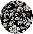 rug #439405 | round black natural rug