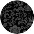 rug #439409   round black natural rug