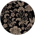 rug #439413 | round black natural rug