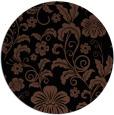 rug #439417 | round black natural rug