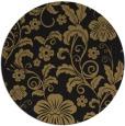rug #439421   round black natural rug