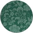 rug #439457 | round blue-green rug