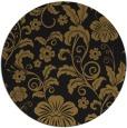 rug #439517 | round mid-brown natural rug