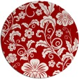 rug #439641 | round red natural rug
