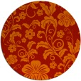 rug #439645 | round orange popular rug