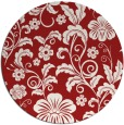 rug #439649 | round red natural rug
