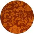 rug #439657   round red-orange rug