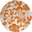 rug #439669 | round red-orange natural rug