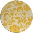 rug #439689 | round yellow popular rug