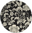 rug #439709   round black natural rug