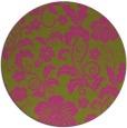 rug #439729 | round light-green natural rug
