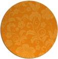 rug #439745 | round light-orange popular rug