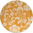 rug #439749 | round light-orange natural rug