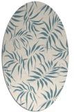 rug #444001 | oval blue-green natural rug