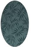 rug #444049 | oval blue-green natural rug