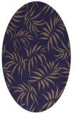 rug #444085 | oval blue-violet popular rug