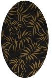 rug #444093 | oval black natural rug