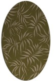 rug #444097 | oval mid-brown rug