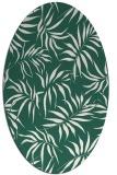 rug #444109 | oval blue-green natural rug