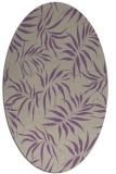 rug #444157   oval purple natural rug